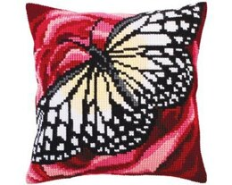 Collection D'Art Geomteric Butterfly II Cross Stitch Cushion Kit - 40cm x 40cm