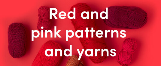 Red yarns and patterns