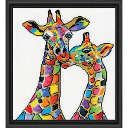 Design Works Giraffes Cross Stitch Kit - 25.4 x 30.48cm