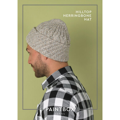 Hilltop Herringbone Hat in Paintbox Yarns Socks - Downloadable PDF