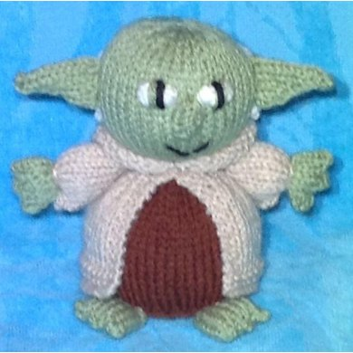 Star Wars Yoda Choc Orange Cover Toy Knitting Pattern By Andrew Lucas