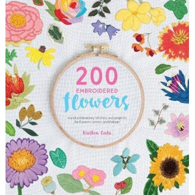 200 Embroidered Flowers - Stitches & projects for flowers, leaves & foliage by Sewandso