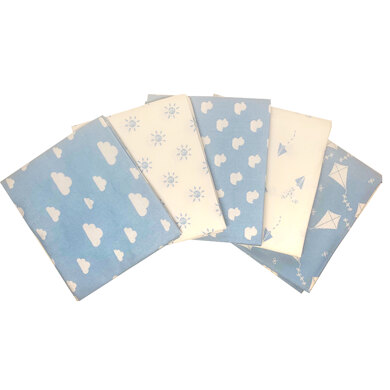 Craft Cotton Company Nursery Basics  Fat Quarter Bundle - Blue