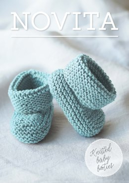 Knitted Baby Booties in Novita Baby Wool - 35 - Downloadable PDF