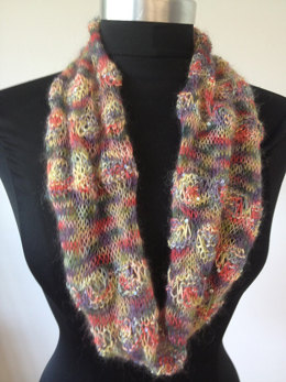 Sparkling Roses Cowl in Artyarns Beaded Mohair and Sequins - P141