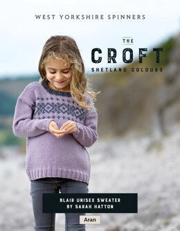 Blair Sweater in West Yorkshire Spinners The Croft Shetland Colours - DBP0069 - Downloadable PDF