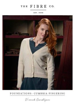 V-Neck Cardigan in The Fibre Co. Cumbria Fingering - Downloadable PDF