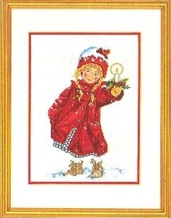 Eva Rosenstand Girl With Candle Cross Stitch Kit