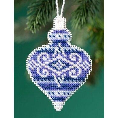 Mill Hill Beaded Holiday - Sapphire Opal Beaded Ornaments - 2.5inx3.25in