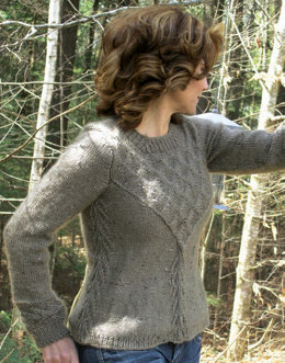 Trellis Pullover in Knit One Crochet Too Brae Tweed - 1974 - Downloadable PDF