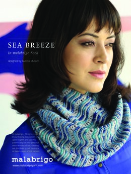 Sea Breeze Cowl in Malabrigo Sock - Downloadable PDF
