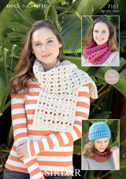 Hat, Snood and Scarf in Sirdar Big Softie Super Chunky - 7161