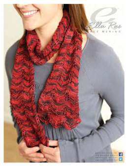Lace-Panelled Scarf in Ella Rae Lace Merino - ER14-02 - Downloadable PDF
