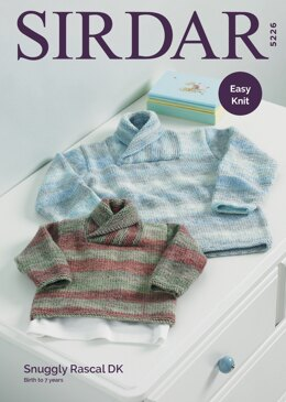 Boy's Sweaters in Sirdar Snuggly Rascal DK - 5226 - Downloadable PDF