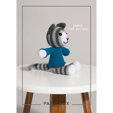 """""""Jamie the Kitten"""" : Crochet Pattern for Toys in Paintbox Yarns DK 