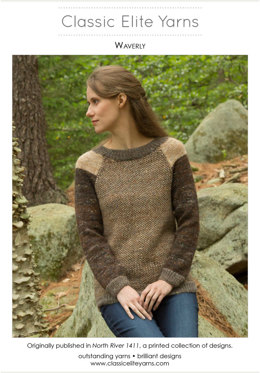 Waverly Pullover in Classic Elite Yarns Tiverton Tweed