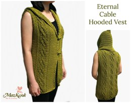 Eternal Cable Hooded Vest