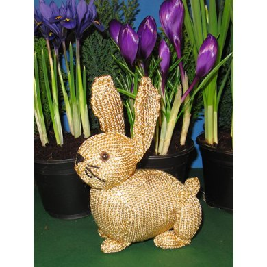 Golden Bunny Rabbit Easter Toy