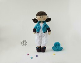 Annabel doll knitted flat