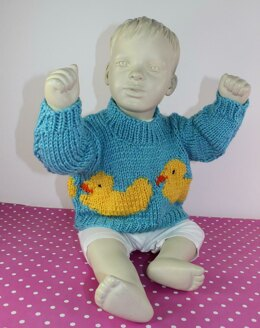 Baby and Toddler Chunky Rubber Duck Sweater