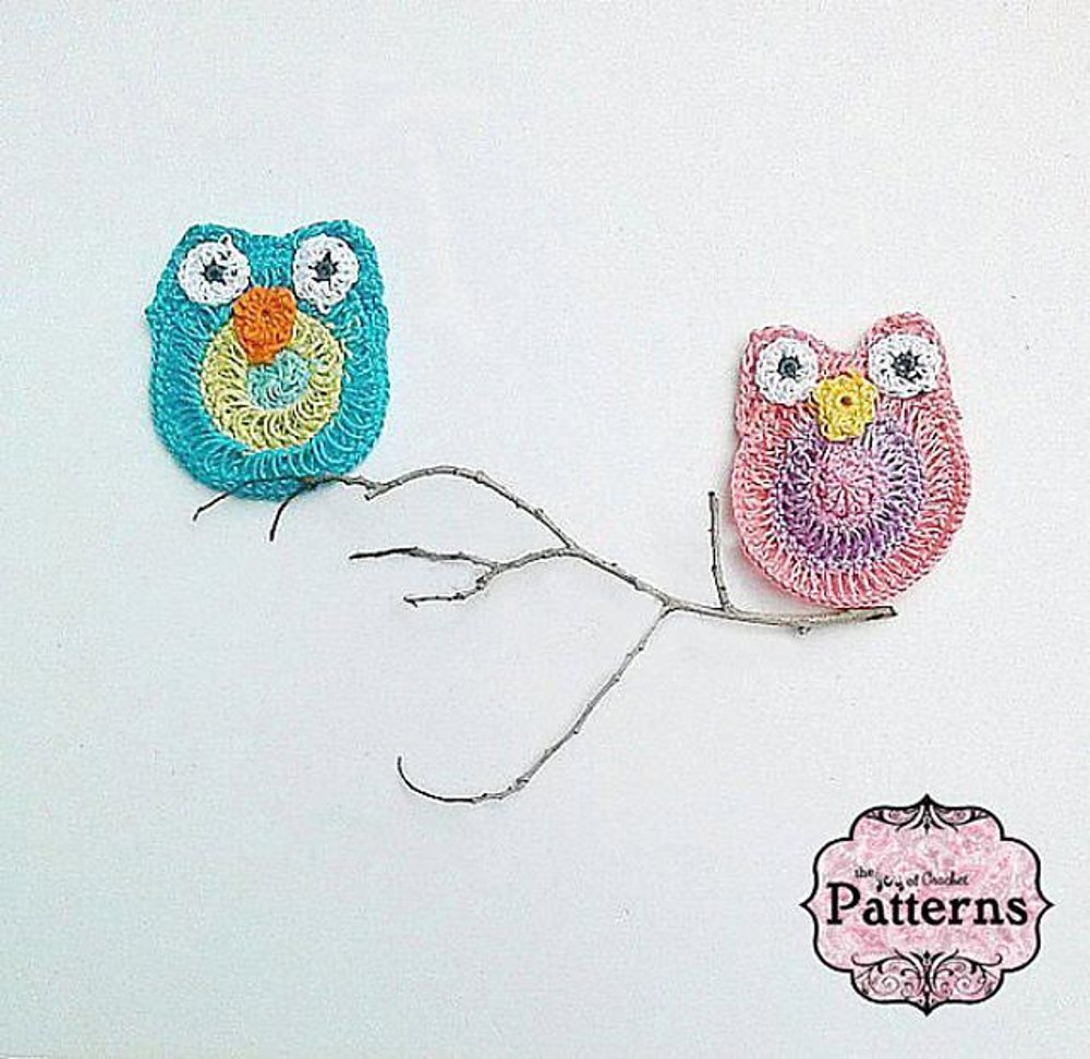 Owl applique bunting crochet pattern by joy grise for Chenille grise