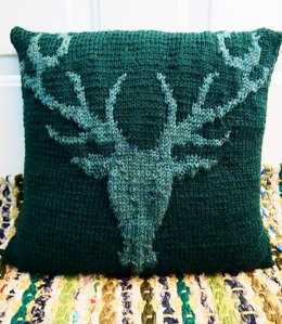 Stag's Head Pillow