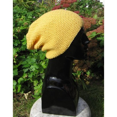 Simple Moss Stitch (Seed Stitch) Slouch Hat