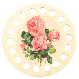 RTO Yarn Holder - Round Printed Pink Roses