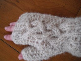 Yin and yang fingerless mitts