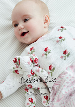 """Rosebud Crossover"" - Knitting Pattern For Babies in Debbie Bliss Eco Baby - PDF"