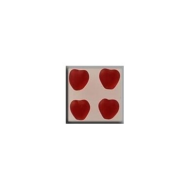 Mill Hill Bead MH12088 - Med Channeled Heart Matte Ruby