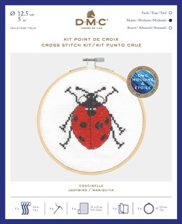 DMC Seven Spot Ladybird Cross Stitch Kit (with 5in hoop) - 5in