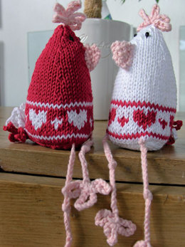 Love Heart Chicks in Rowan Cotton Glace