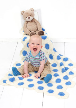 Polka-Dot Baby Blanket in Red Heart Comfort Sport - 928-0683 - Downloadable PDF