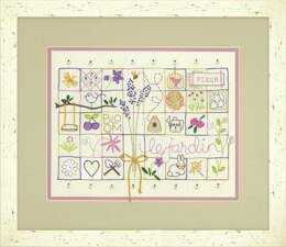 Dimensions Embroidery Kit: Crewel: Le Jardin Sampler - 35 x 28cm