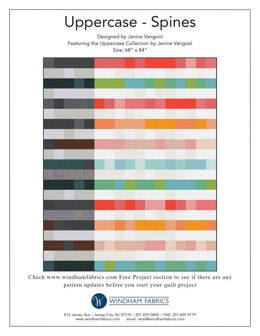 Windham Fabrics Uppercase Spines  - Downloadable PDF