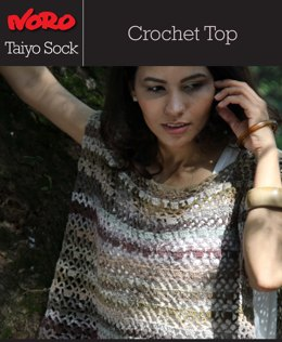 Crochet Top in Noro Taiyo Sock