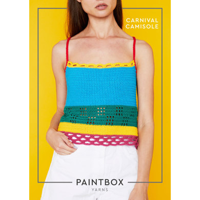 """""""Carnival Camisole"""" : Top Crochet Pattern for Women in Paintbox Yarns DK 