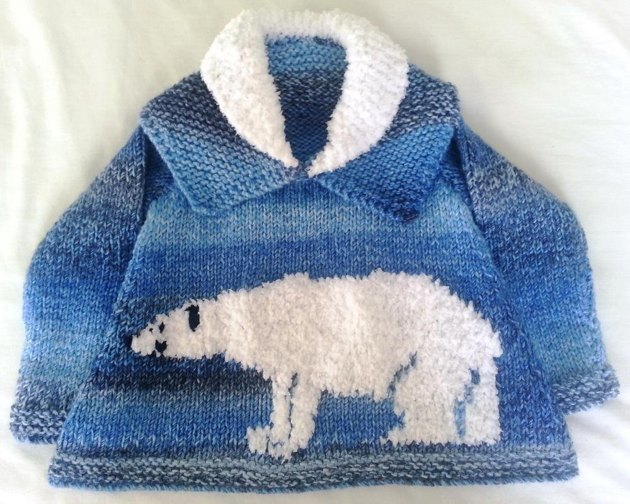 Knitting Pattern Bear Jumper : Polar Bear Sweater Knitting pattern by iKnitDesigns Knitting Patterns Lov...