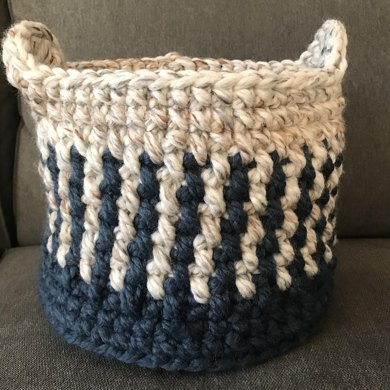 Fine Tooth Comb Crochet Basket Crochet Pattern By Katie Zelinski
