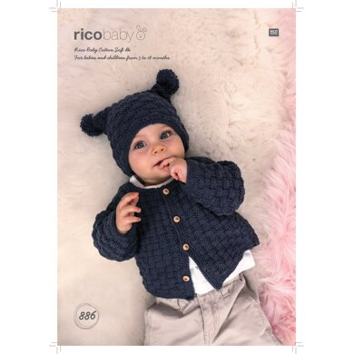 Jacket and Hat in Rico Baby Cotton Soft DK - 886 - Downloadable PDF