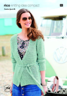 Shawl and Cardigan in Rico Creative Sport DK - 564 - Leaflet