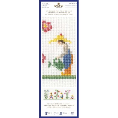 DMC Vintage Garden Bookmark Cross Stitch Kit - 8x3in