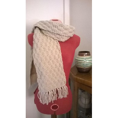 Deep Frost Textured Scarf