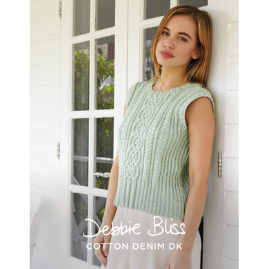 """""""Martina Top"""" : Top Knitting Pattern for Women in Debbie Bliss DK 