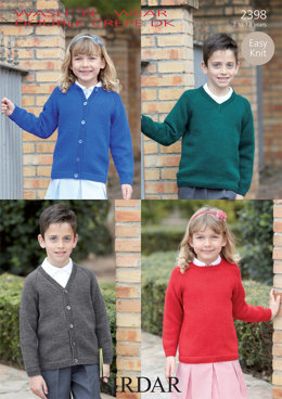 Sweaters and Cardigans in Sirdar Wash 'n' Wear Double Crepe DK - 2398 - Downloadable PDF