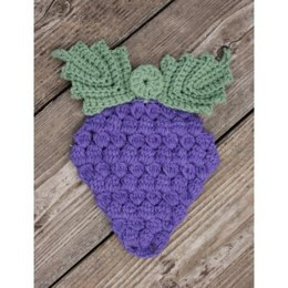 Grape Bunch Potholder in Lily Sugar 'n Cream Solids - Downloadable PDF