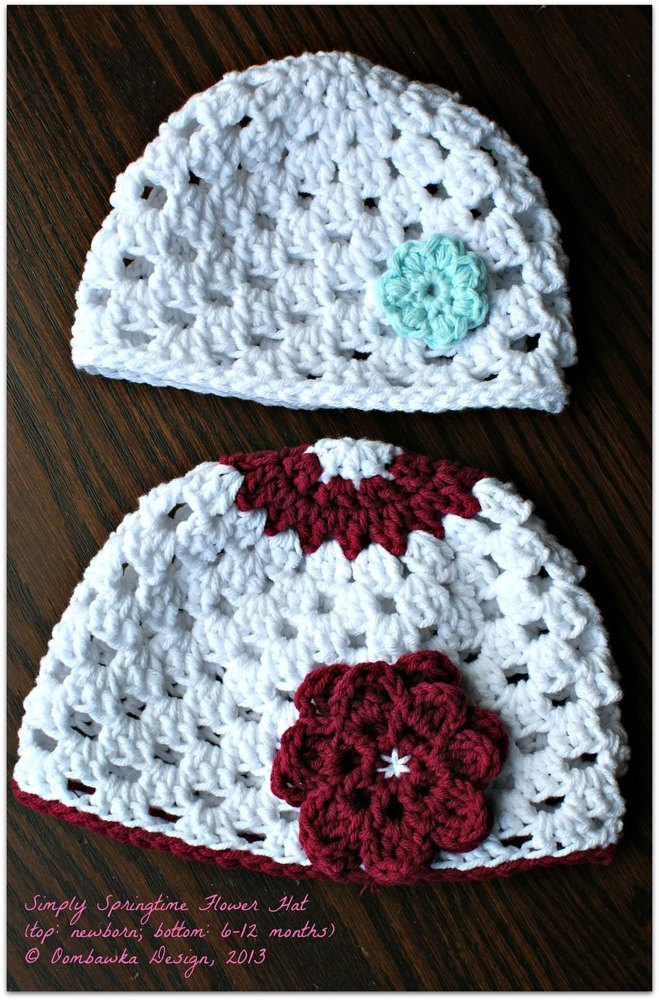 Simply Springtime Flower Hat Crochet pattern by Rhondda ... 42a4a3a8aaf