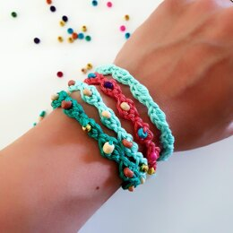 Left Over Yarn Bracelets