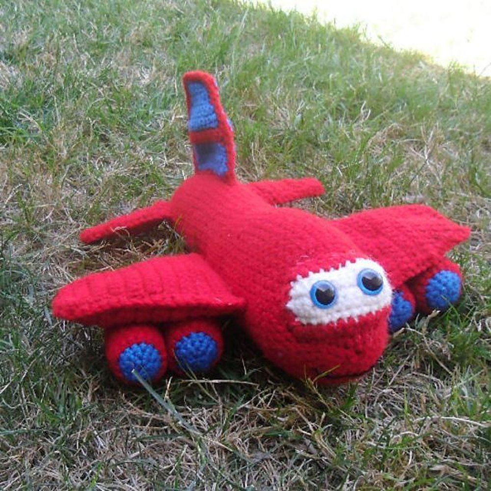 Red the Airplane Crochet pattern by Melissa's Crochet ...